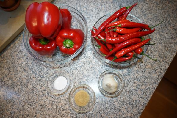 Ингредиенты для острой приправы Канкочи